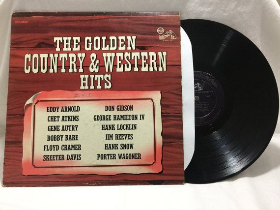 Various Artists The Golden Country & Western Hits Vintage Vinyl Record Album 33 rpm lp 1968 RCA Records CPM-0500 by NostalgiaRocks