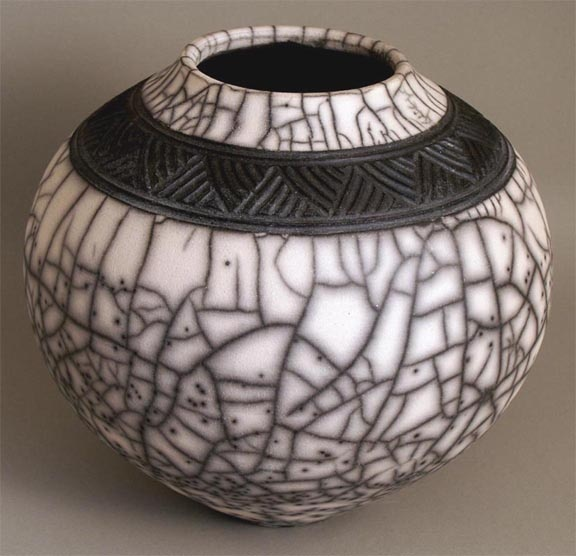 Carved naked raku Don Curtis