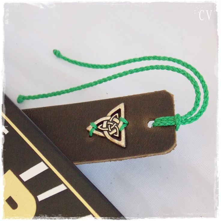 Large Triquetra Bookmark, Celtic Knotwork Bookmark,  Norse Viking Bookmark, Wiccan Triad Marker, Bookworm Gift