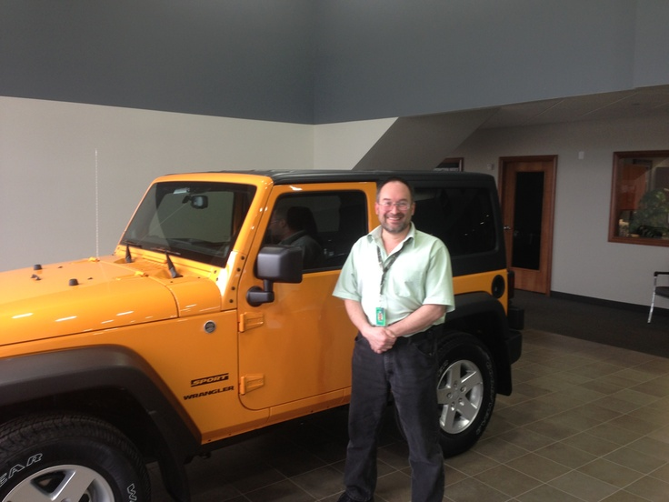 Let's raise our glasses to Mike on his purchase of a 2013 Jeep Wrangler Sport and for his second purchase from Billion Dodge Chrysler Jeep Ram. Thank you for your continued business and for Choosing Billion Auto Group for your automotive needs!