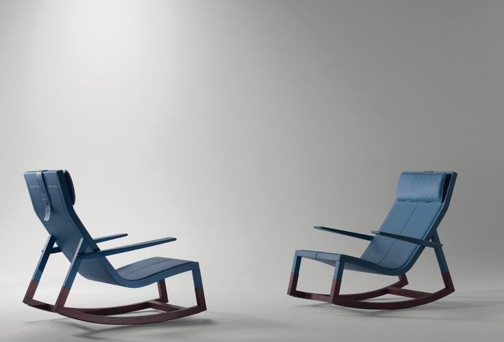 Don'do rocking chair desined by Jean-Marie Massaud for Poltrona Frau.  #rockingchair #poltronafrau #jeanmariemassaud