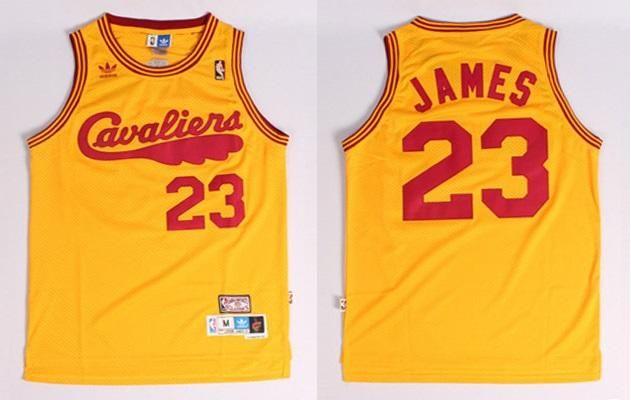 buy online 35d18 c6831 Men's Lebron James Christmas Jersey Yellow Cleveland ...