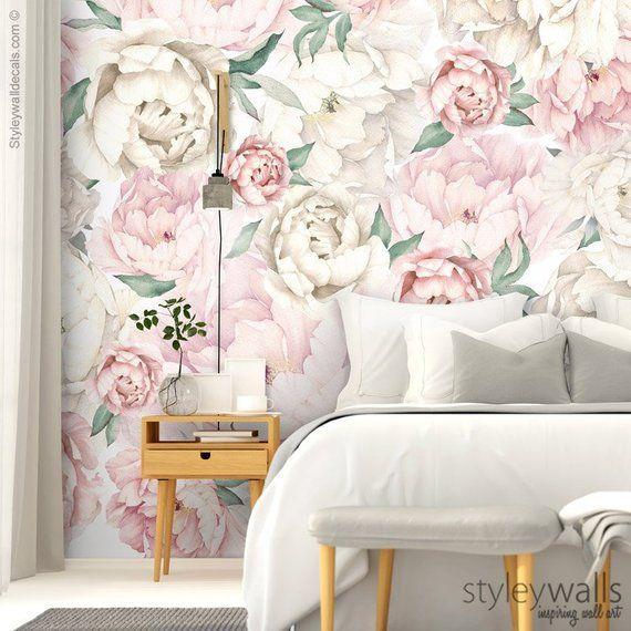 Peony Wallpaper, Peonies Floral Wallpaper, Pink White ...