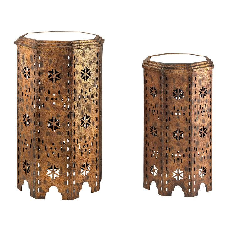 Sterling Industries 2 Piece Moroccan Side Table Set