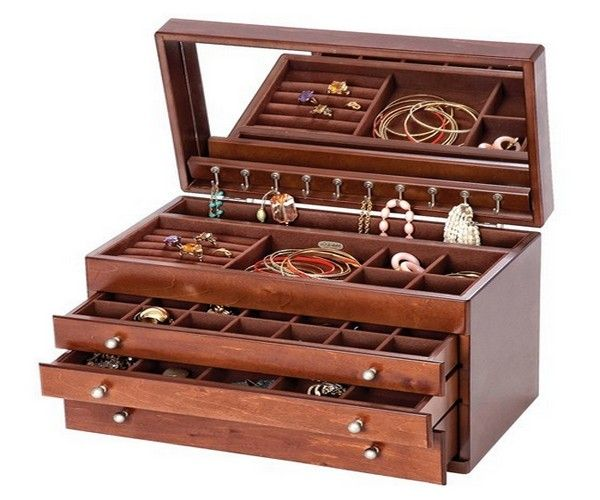 17 best images about accessories storage on pinterest for Jewelry box made of wood