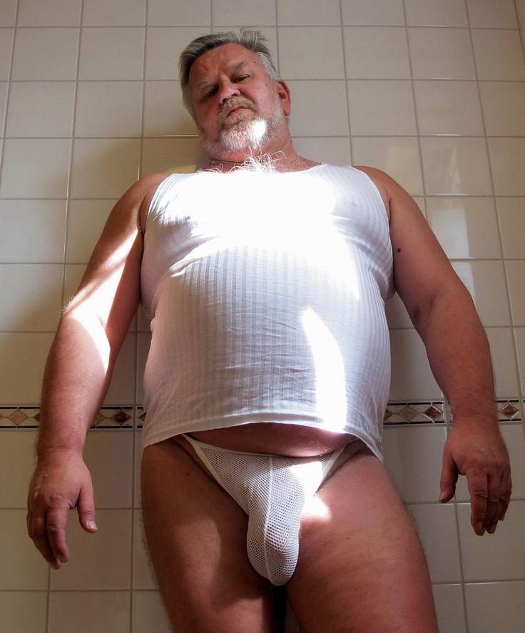 Senior uncut chubby men