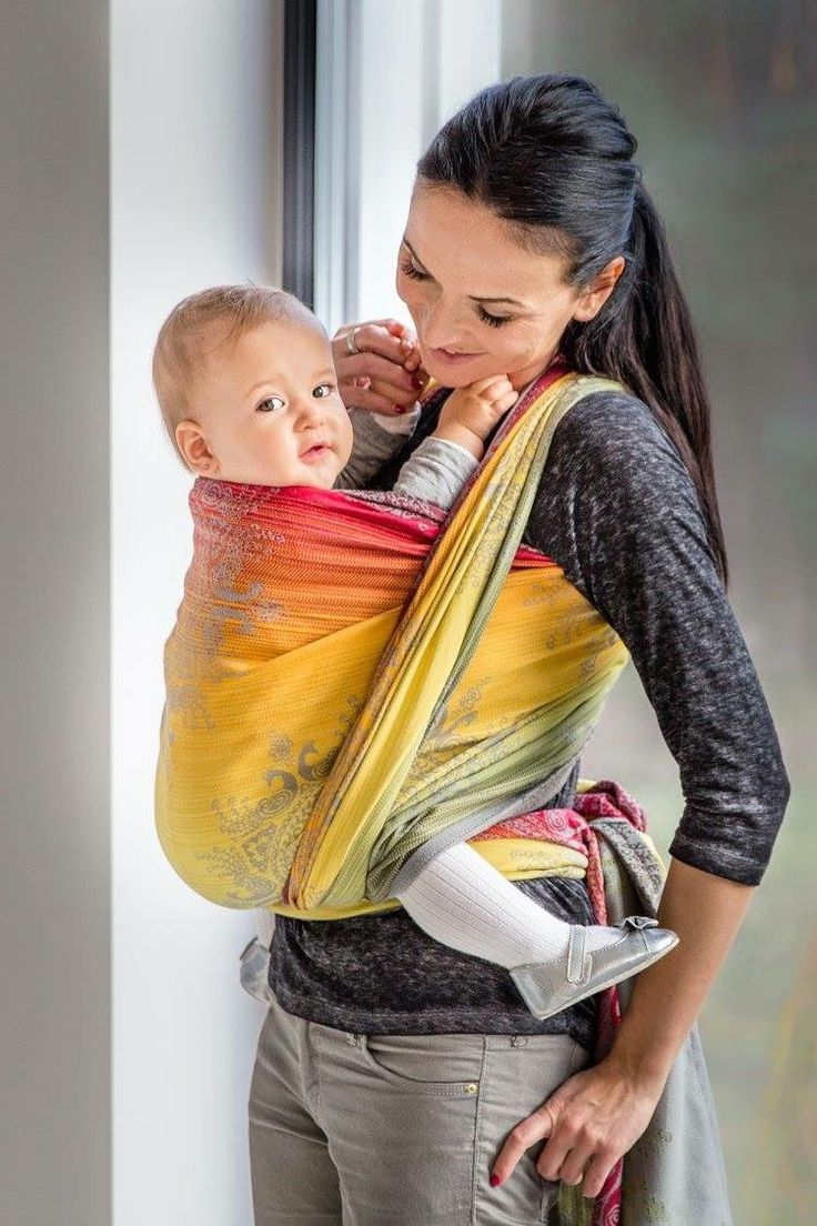baby wrap sling how to wear