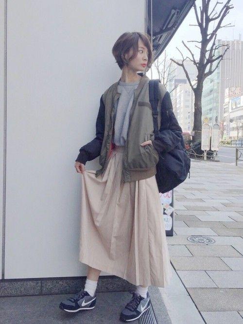 斎藤有沙さんのスウェット「UNIQLO 」を使ったコーディネート