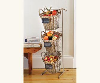 Terzetto Basket Stand Next To Buffett · Napa StyleBasket StorageShelvingCleaning  ...