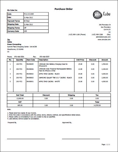 Purchase order template business document pinterest template for Interior design purchase order