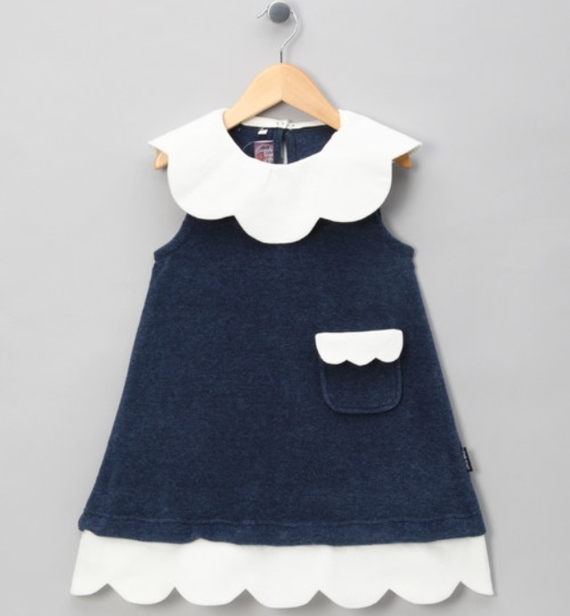 Scallop hem and HUGE collar