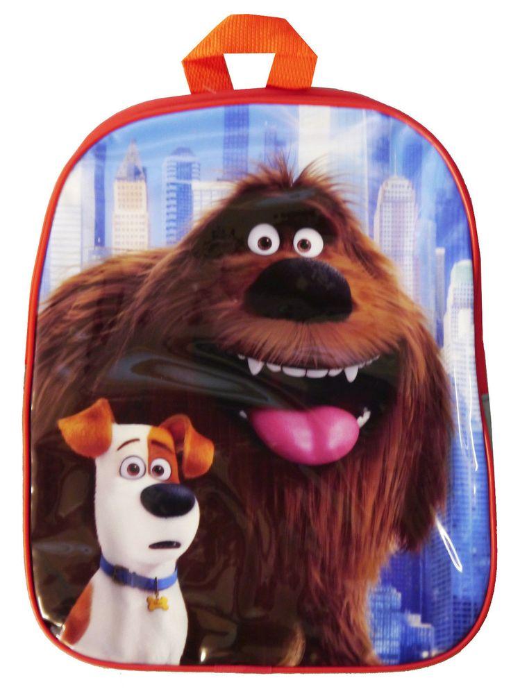 SECRET LIFE OF PETS TRAVEL SCHOOL JUNIOR BACKPACK BAG CHILDREN KID DOGS PUP SLOP in Home, Furniture & DIY, Children's Home & Furniture, Kitchen & Dining | eBay