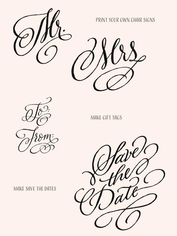 DIY Wedding Ideas with Adorn Fonts Ruffled