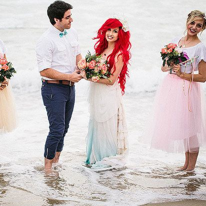 Equal time in the sea: | If Ariel And Prince Eric Got Married IRL, This Is What It Would Look Like