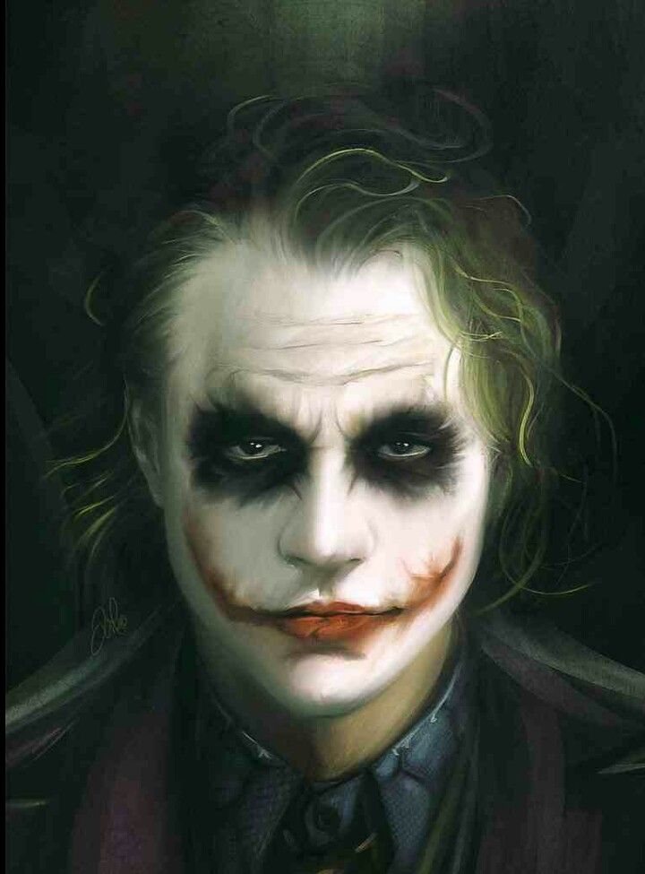 Fan Art of Heath Ledger as The Joker. (A Dark Knight)