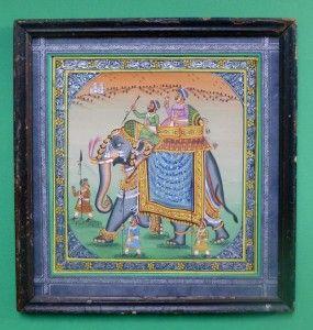 miniature indienne sur soie