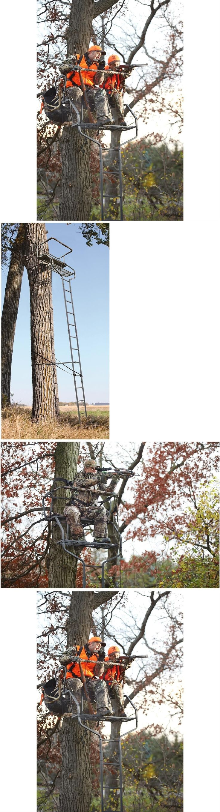 Tree Stands 52508: 2 Man Ladder Tree Stand For Deer Hunting Bow 18 Deluxe Buddy Platform -> BUY IT NOW ONLY: $137.0 on eBay!