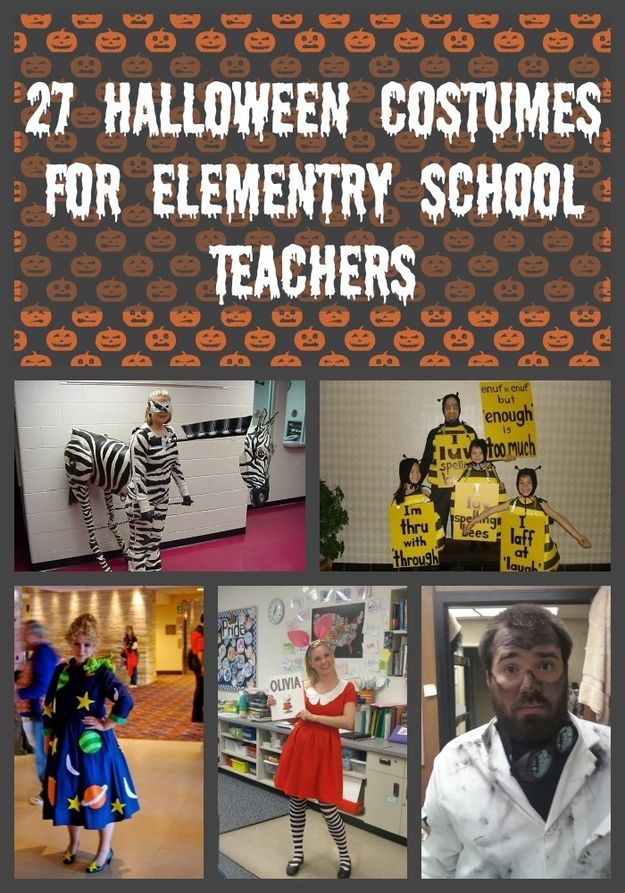 27 Halloween Costumes For Elementary School Teachers. #halloween costumes, #school halloween costumes, #diy halloween costumes for kids