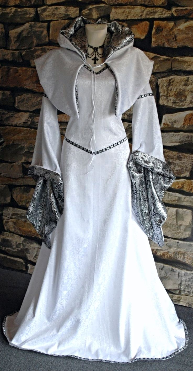 ~  white elven gown with small capelet ~
