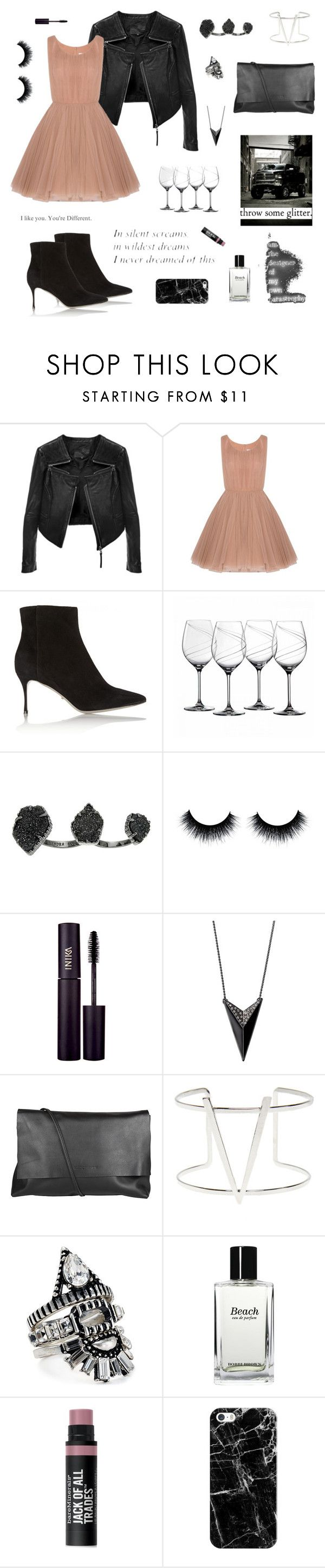 """You Make Broken Beautiful"" by jax2207 ❤ liked on Polyvore featuring Linea Pelle, Lara Khoury, Sergio Rossi, Royal Doulton, Kendra Scott, INIKA, Arlington Milne, Wet Seal, BaubleBar and Bobbi Brown Cosmetics"