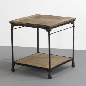 Mesita Madera y Hierro 71x71x77  Wood and Iron table 71x71x77