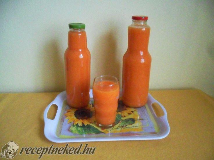 Hozzávalók: 1,5 kg sárgarépa 2 kg alma 2 citrom 2 narancs 3 banán cukor, ha nem lenne elég édes 3 l víz Tetejére: nátrium benzoát, ha nem fogy el azonnal é