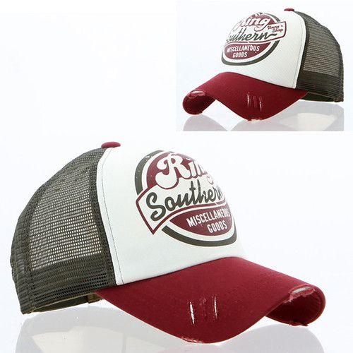 [UK] New Women Men Vintage Distressed Retro Baseball Trucker Mesh Hats Ball Cap…
