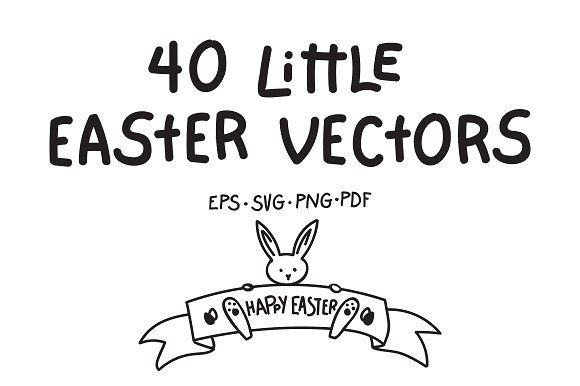 40 Little Easter Vectors by nantia on @creativemarket