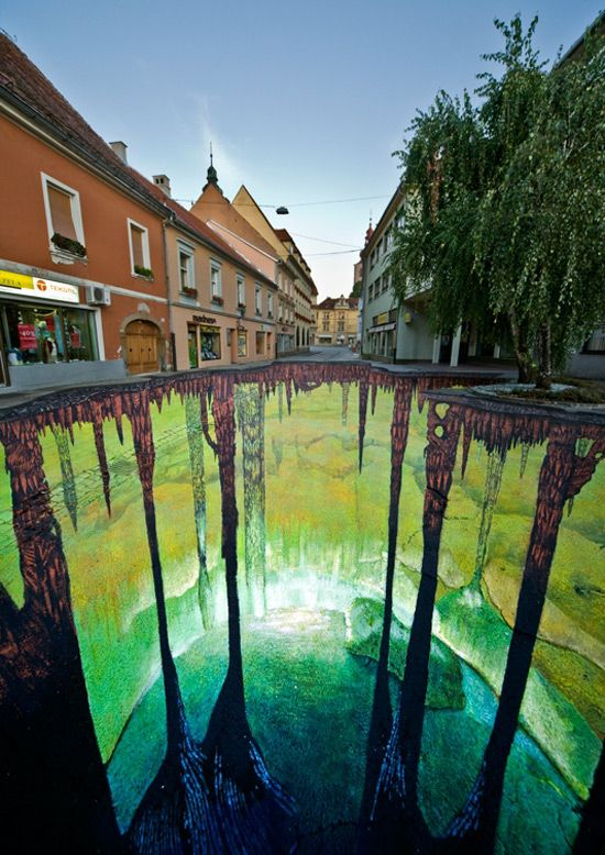 3D Street Art.                                                I love this,what a champ...............