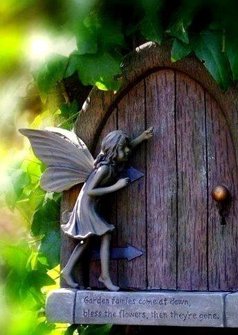 Garden fairies come at dawn, bless the flowers, then they are gone...                                                                                                                                                      More