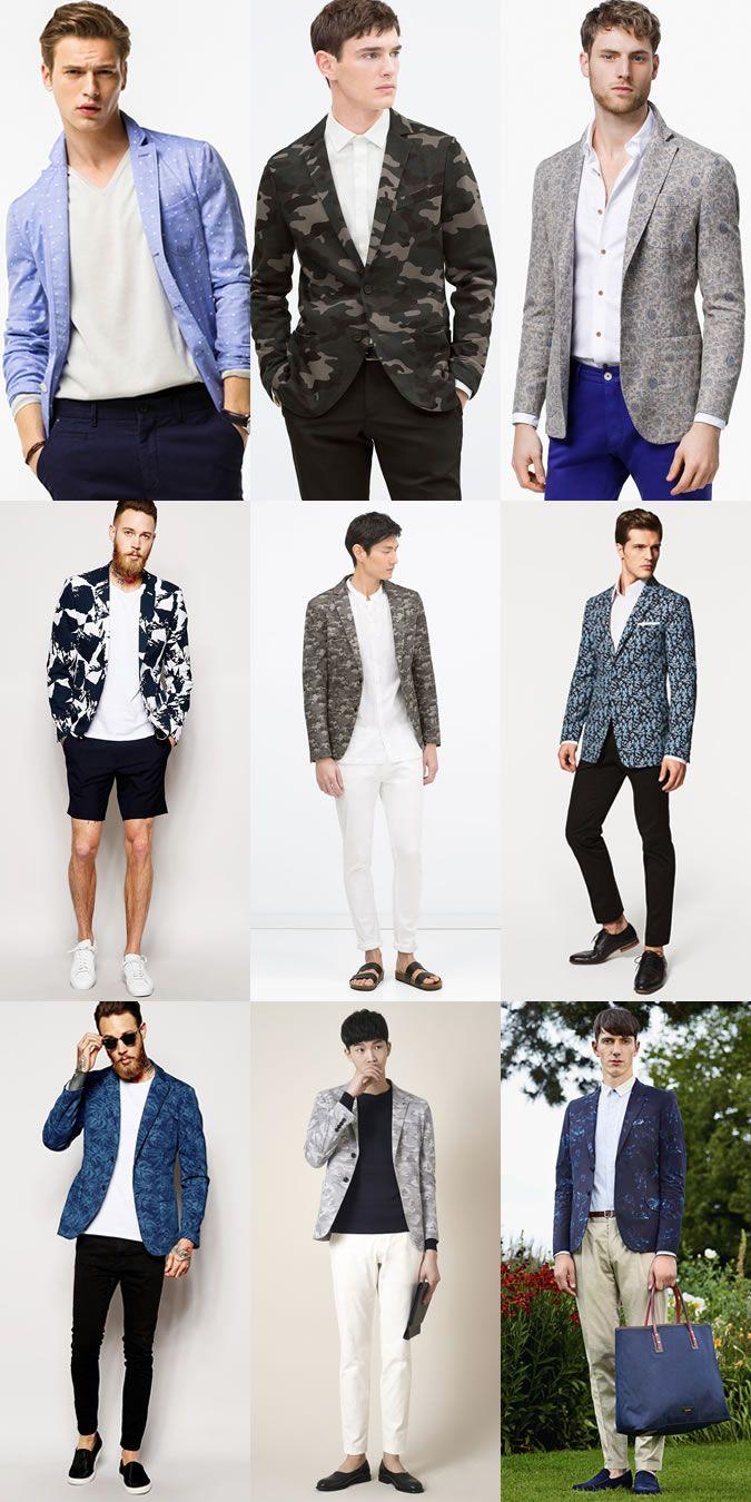 Key Mens Blazers for 2015 Spring/Summer: The Patterned Blazer Lookbook Inspiration