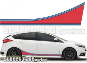 Ford Focus Martini racing stripes