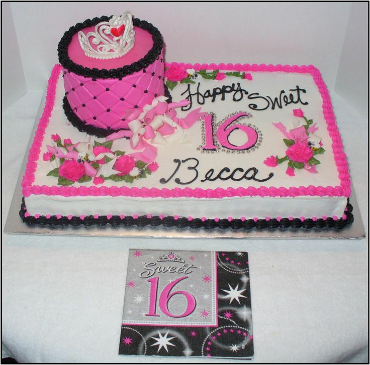 10 Best Sweet 16 Cakes Images On Pinterest 16th Birthday Cakes