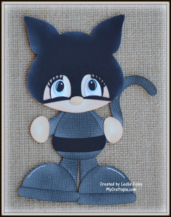 Catwoman Super Hero Premade Scrapbooking by MyCraftopia on Etsy
