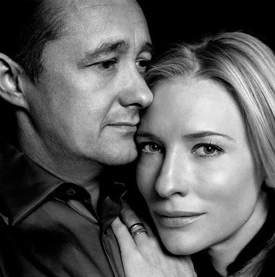 "Cate Blanchett and Andrew Upton ""The most romantic moment in my life was meeting my husband. Love at first sight? Yes, it was. We went from meeting to marriage in a matter of weeks."""