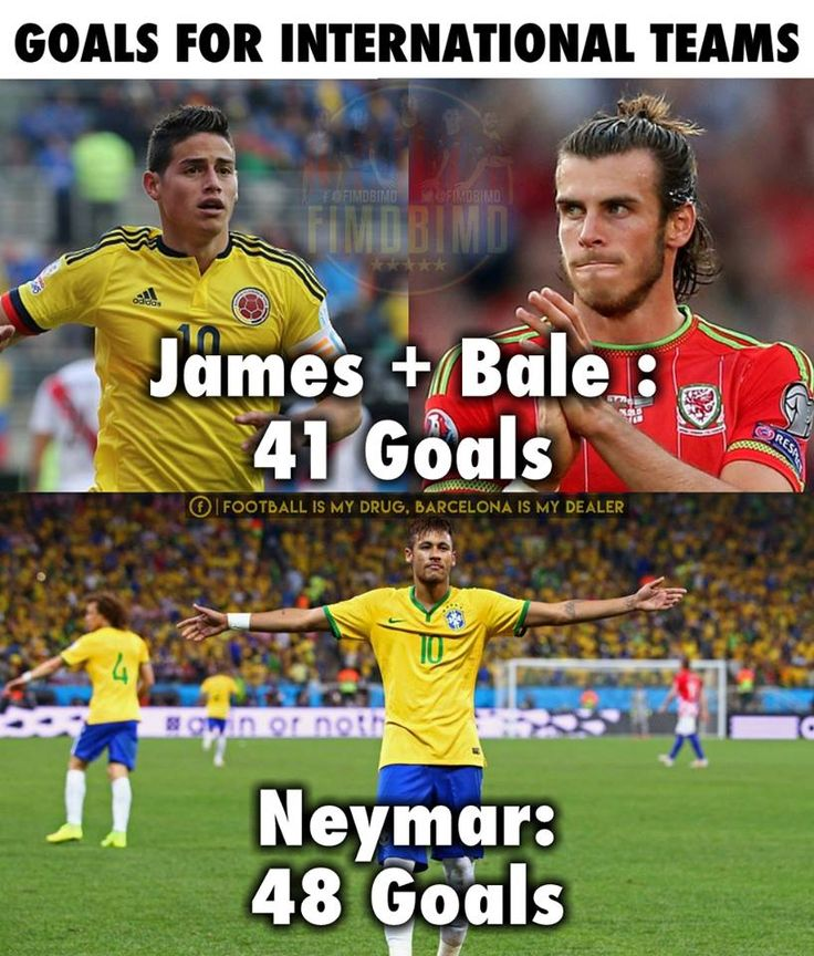Neymar vs Bale and James!
