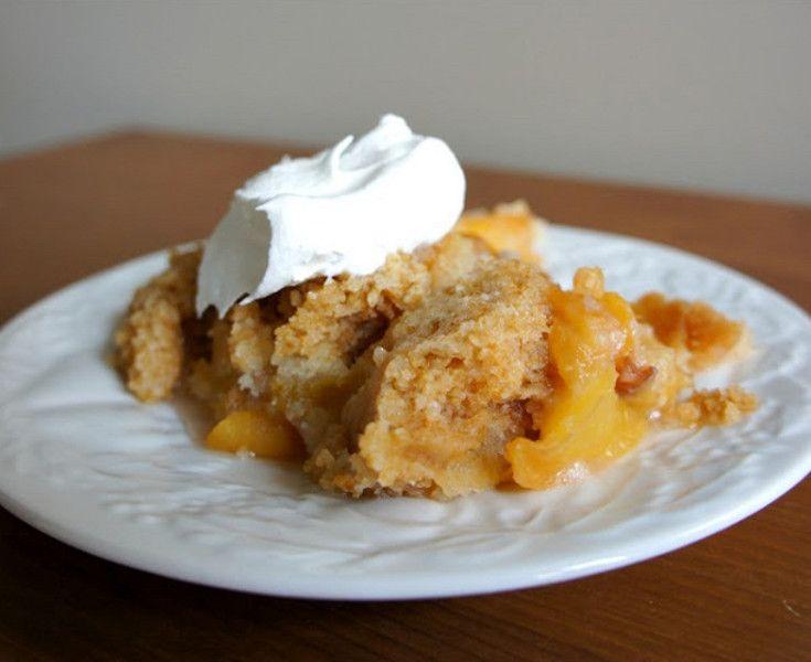 Cake Mix Peach Cobbler   So easy to make!