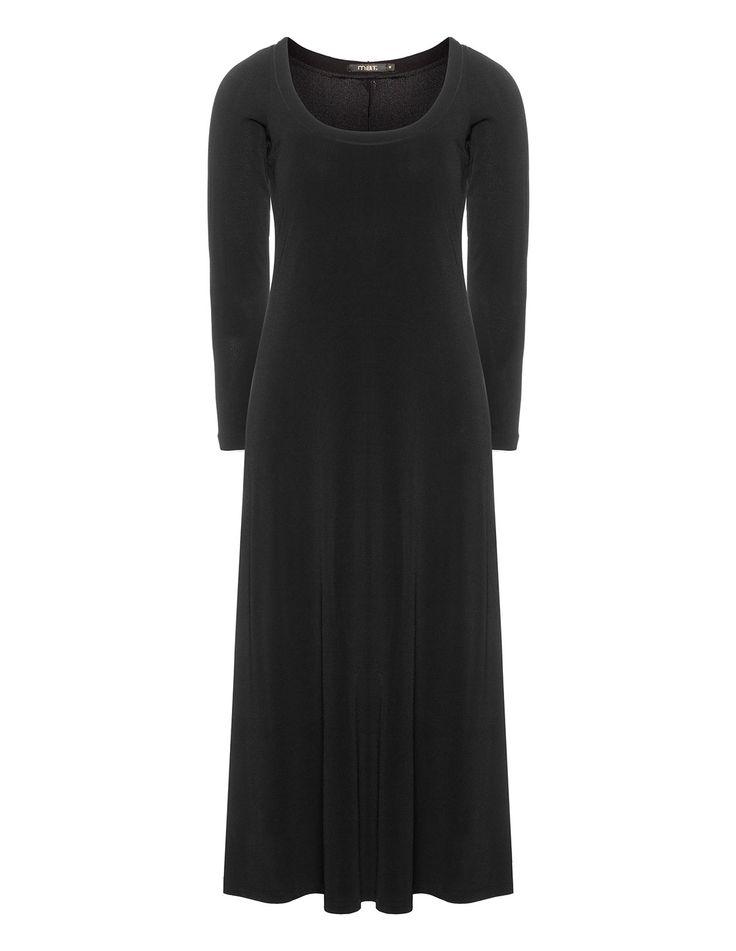 Mat Long-sleeved maxi dress in Black