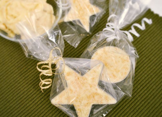 Compound butter- gifted in cookie cutter shapes- yummy and inexpensive!