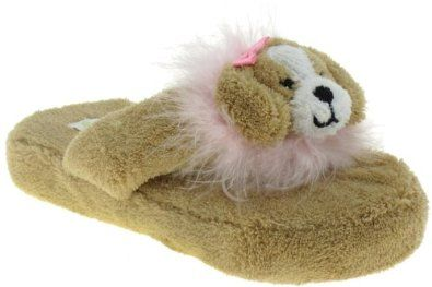 Capelli New York Chamois Thong With Puppy 3d Icon Girls Indoor Slippers Beige Medium Capelli New York. $6.99