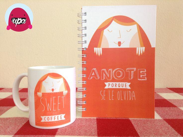 Cuaderno y pocillo / notebook / mug / illustration / design