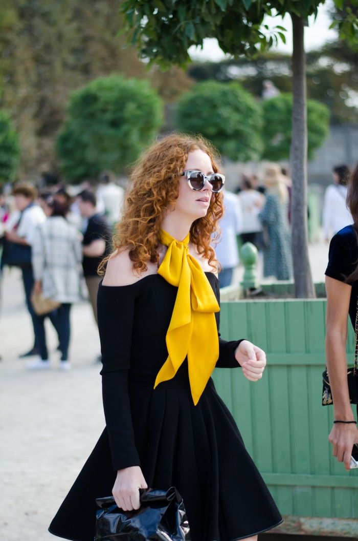 Paris…..Yellow Bow Tie Scarf