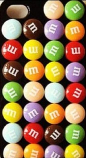 It's made out of real m&ms with this shine stuff