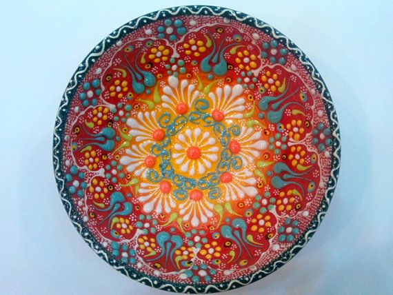 Turkish Ceramic Hand Made 10cm Iznik and by BUYCARPETANDCERAMIC $12.99 & 16 best Turkish plates images on Pinterest | Dishes Ceramic plates ...