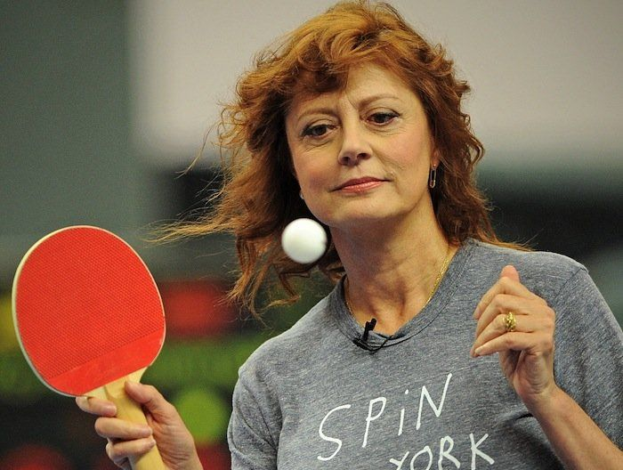 Ping Pong Master Susan Sarandon picked up ping pong late in life and soon became smitten,