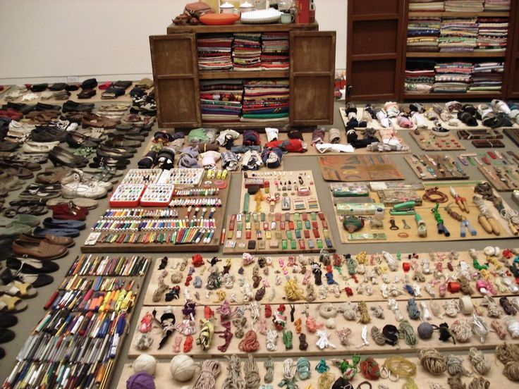 """A Chinese Communist woman's house - hoarding out of fear of not having enough. """"Waste Not"""" by Song Dong at the MoMA."""