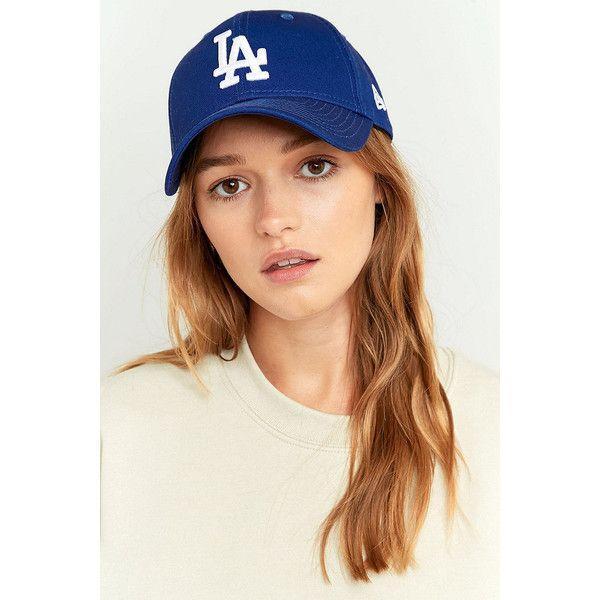 New Era Los Angeles Dodgers Baseball Cap (£15) ❤ liked on Polyvore featuring accessories, hats, blue, blue hat, blue baseball hat, ball cap, la dodgers hat and new era cap