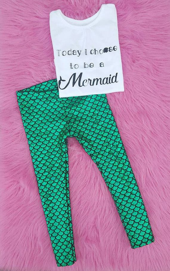 Mermaid Birthday Outfit Today I Choose to be a by MamisLittleMuse