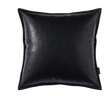 Black Hyde Leather Cushion - Pin for Inspo!