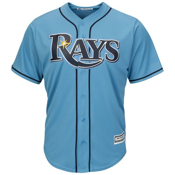 Tampa Bay Rays Majestic Official Cool Base Jersey - Light Blue - $99.99